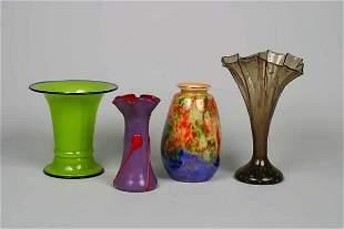Four Glass Vases,