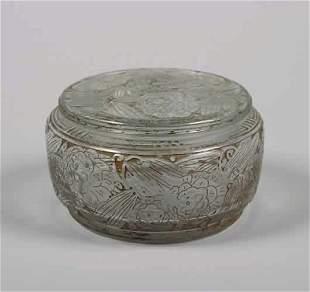 A Daum Circular Covered Box,