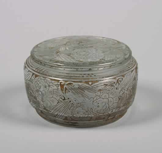 505: A Daum Circular Covered Box,