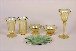A Durand Glass Partial Service.