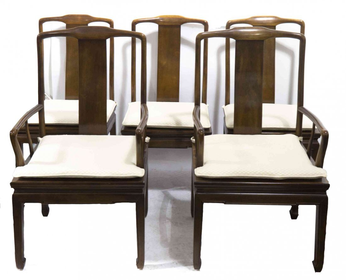 A Set of Ten Modern Chinese Style Dining Chairs, Height