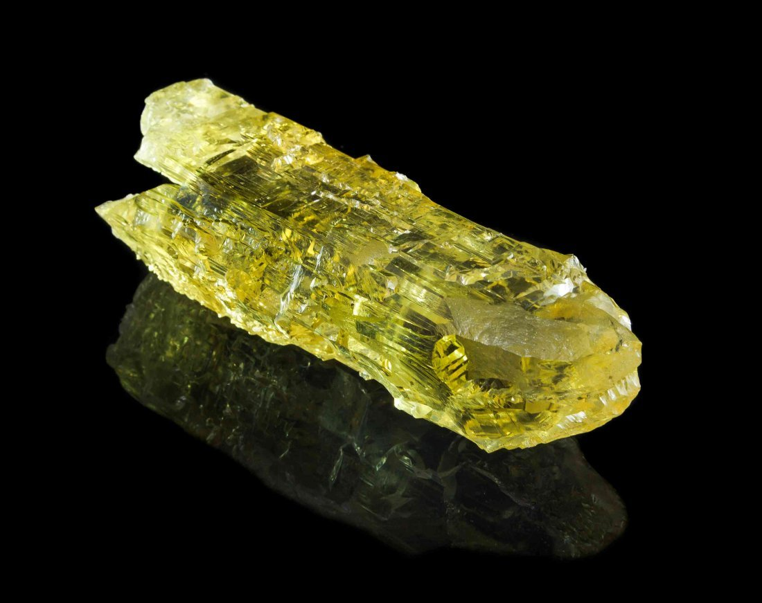 An Etched Heliodor Crystal Specimen,,