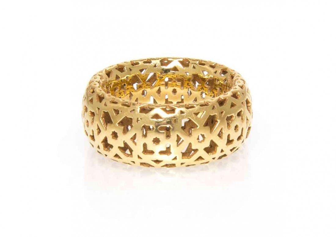 An 18 Karat Yellow Gold Marrakesh Ring, Paloma Picasso