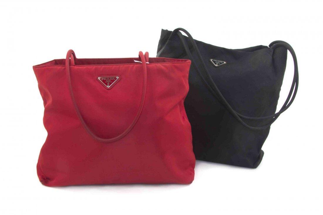 4160f5e29a ... coupon a pair of prada nylon bags 839ad c58aa new arrivals how to clean prada  tessuto saffiano ...