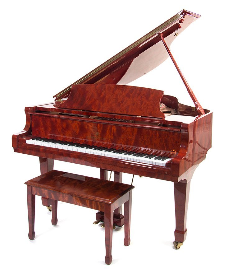 A Pramberger Baby Grand Piano, Length 66 inches.