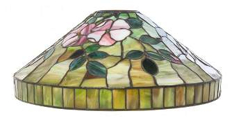 An American Leaded Glass Table Lamp, attributed to