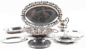A Group of Eight Silver Table Articles, 20th Century,