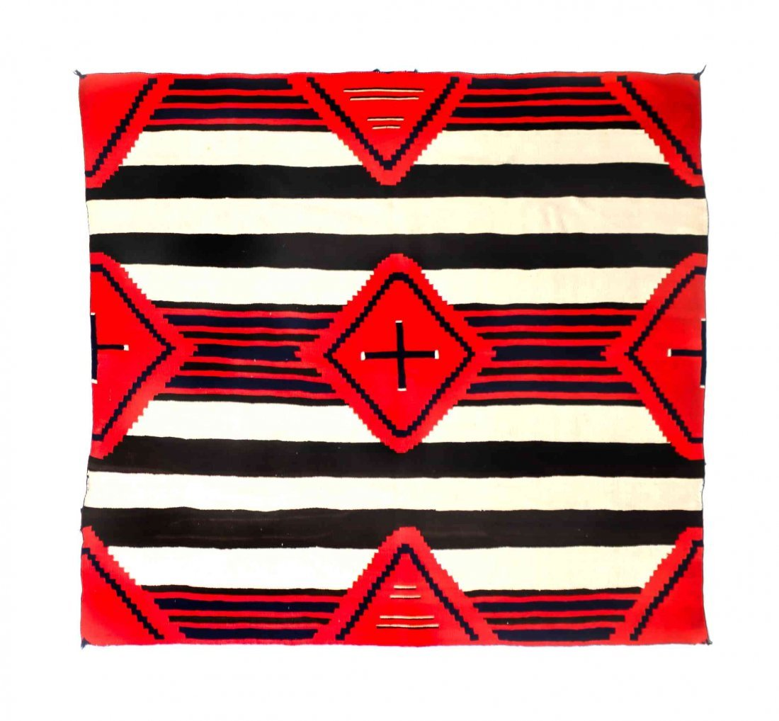 A Navajo Third Phase Chief's Blanket, 59 1/4 x 65