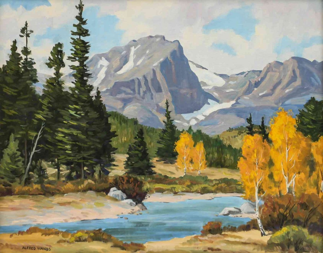 Alfred Wands, (American, 1904-1998), Mountain Landscape