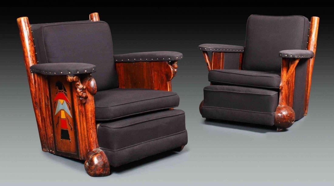 Two Thomas C. Molesworth (1890-1977) Club Chairs,