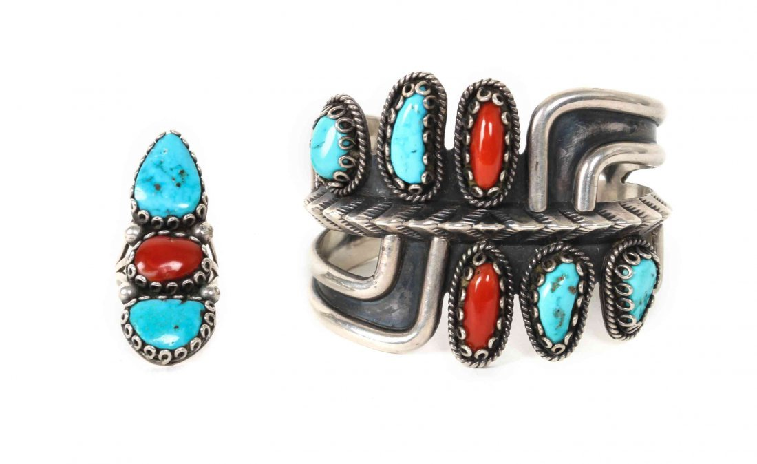A Navajo Modernist Design Bracelet, Ramone Platero,