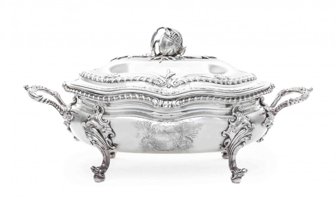 A George II Silver Soup Tureen and Cover, George