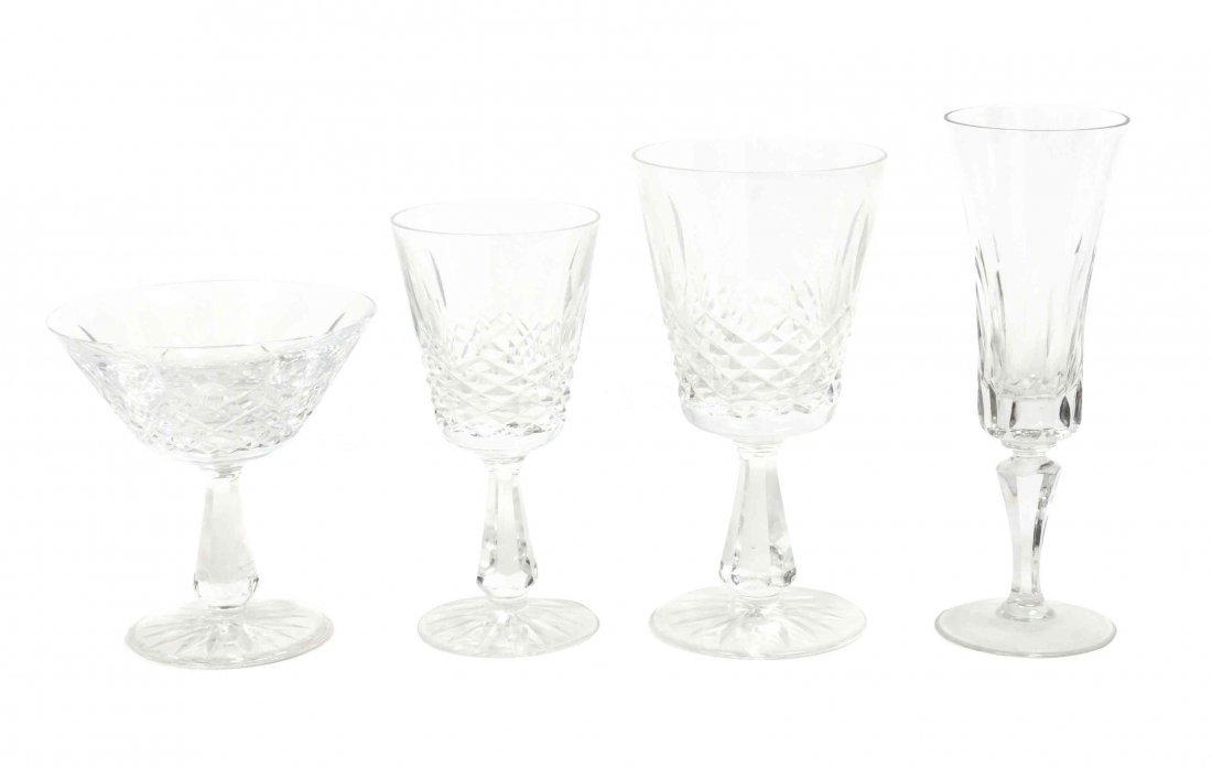A Set of Waterford Crystal, Height of first 4 3/4