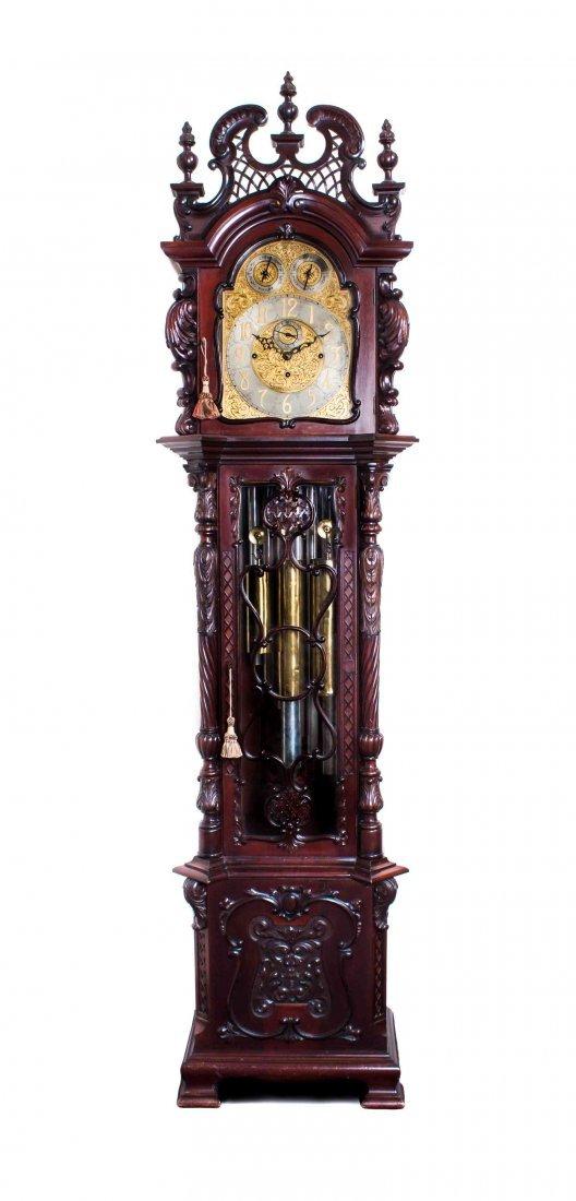 A Mahogany Tall Case Clock, H. Lee and Sons, Hull,