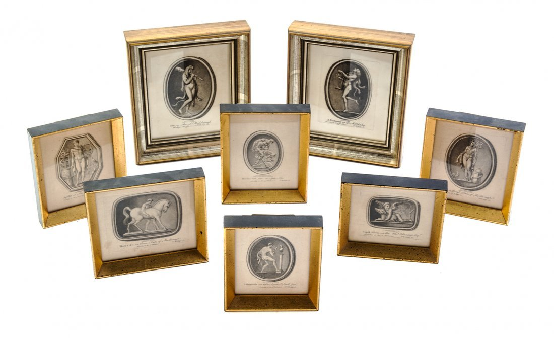 A Collection of Eight Engravings, Largest 7 1/4 x 6 1/2