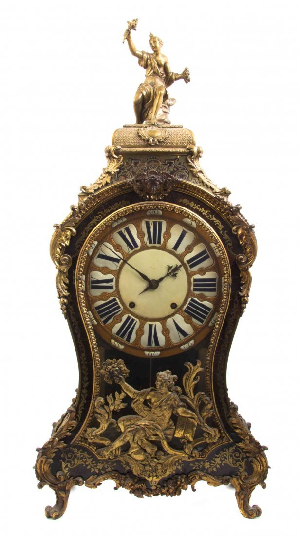 A Louis XV Style Boulle Marquetry Bracket Clock, Height