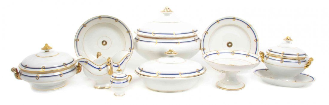 A French Porcelain Dinner Service, Width of widest 19