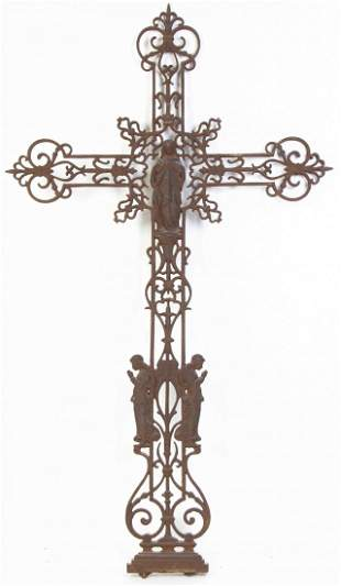 A French Iron Cross, Height 48 1/4 inches.