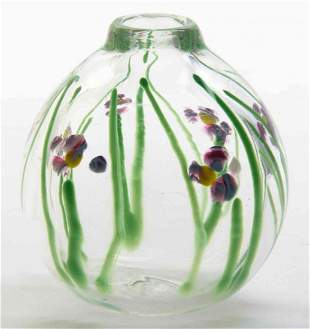 A Studio Glass Vase, Height 4 1/2 inches.