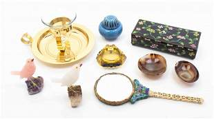 A Group of Decorative and Vanity Objects, Length of