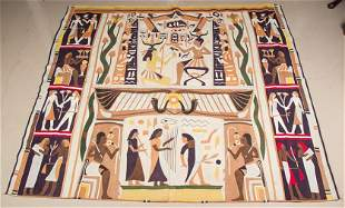 An Egyptian Style Quilt. 6 feet 2 inches x 6 feet 8