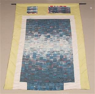 An Abstract Silk Wall Hanging. 4 feet 2 inches x 2 feet