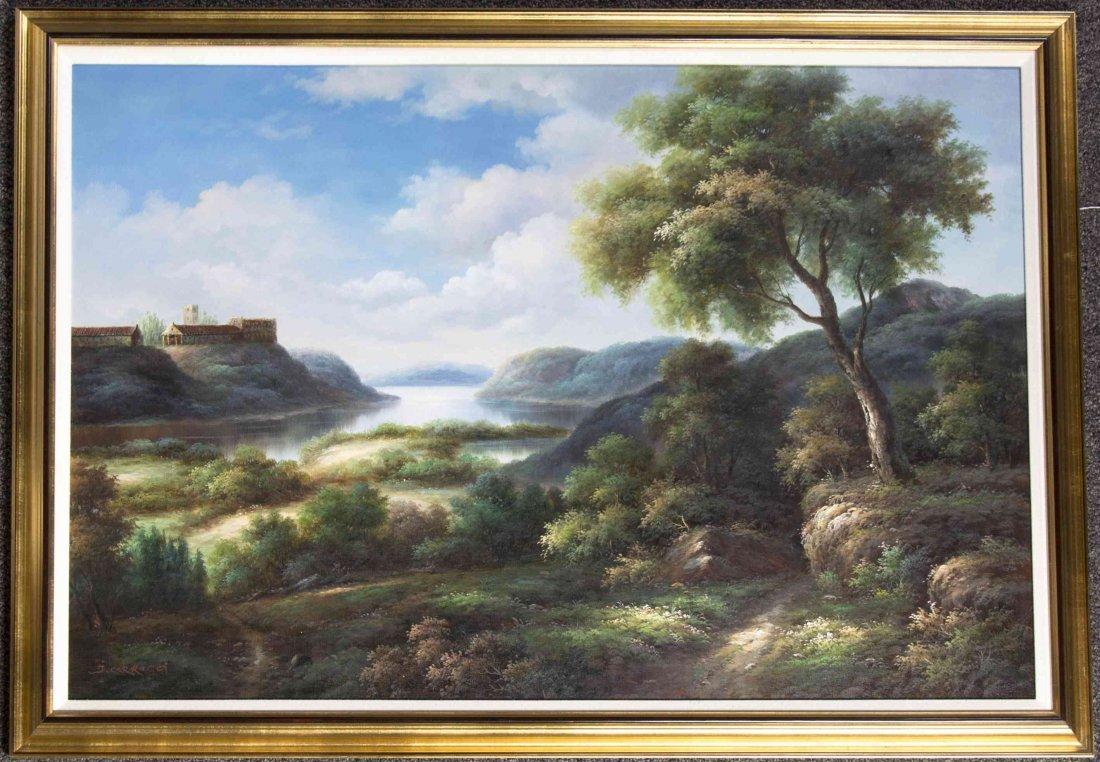 J. Caracci, (20th century), Landscape