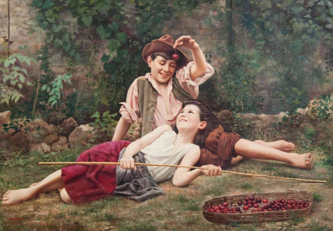 Vittorio Rignano, (Italian, 1860-1916), Cherries