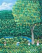 Henri Robert Bresil , (Haitian, 1952-1999), Landscape