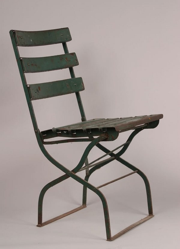 1012: A Single Metal Folding Stadium Seat. Height 32 x