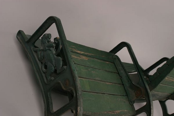 1013: A Pair of Folding Stadium Seats from Tiger Stadiu