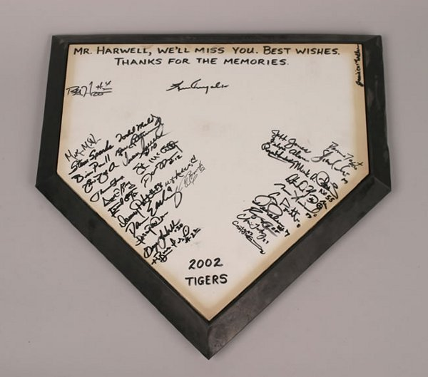 1017: An Authentic Home Plate, signed by the 2002 Detro