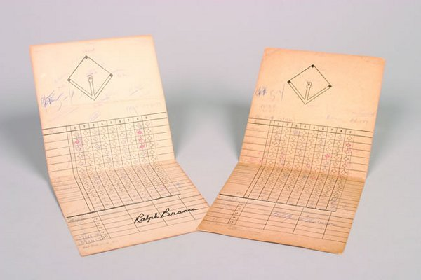 1100: Ernie Harwell's Scorecard from  October 3, 1951,