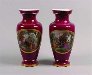 A Pair of Paris Porcelain Vases,