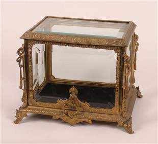 A French Gilt Bronze Table Casket,