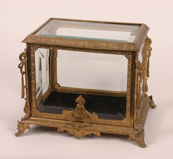 9: A French Gilt Bronze Table Casket,