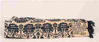 11: An American Jacquard Wool Coverlet,