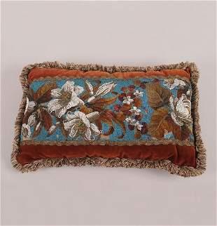 A Victorian Beadwork Pillow,