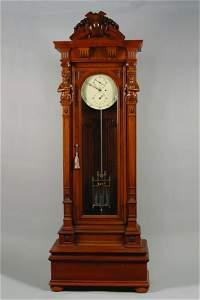 304: An American Floor Standing Jeweler's Regulator,
