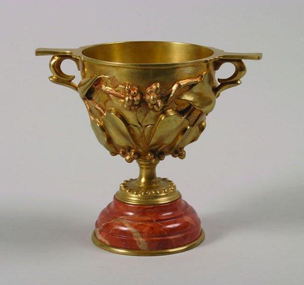 495: A Gilt Bronze Handled Cup,