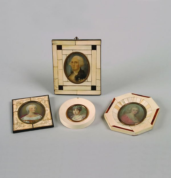 503: A Group of Portrait Miniatures on Ivory,