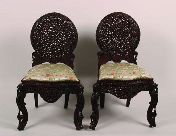 509: A Pair of Anglo-Ceylonese Side Chairs,
