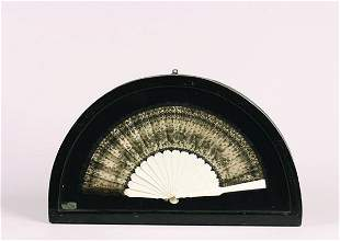 An Ivory and Lace Fan,