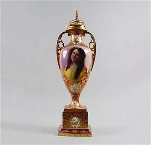 A Vienna Porcelain Urn,