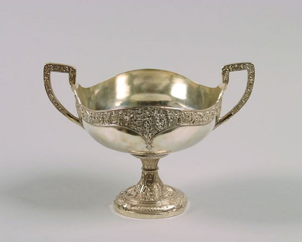 1154: A Large Silver Plate Centerpiece Bowl,