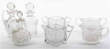A Group of Cut Glass Articles Height of tallest 7