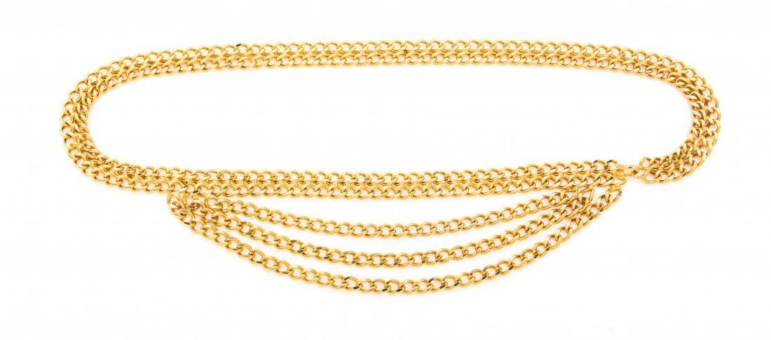 A Chanel Goldtone Chain Link Belt,