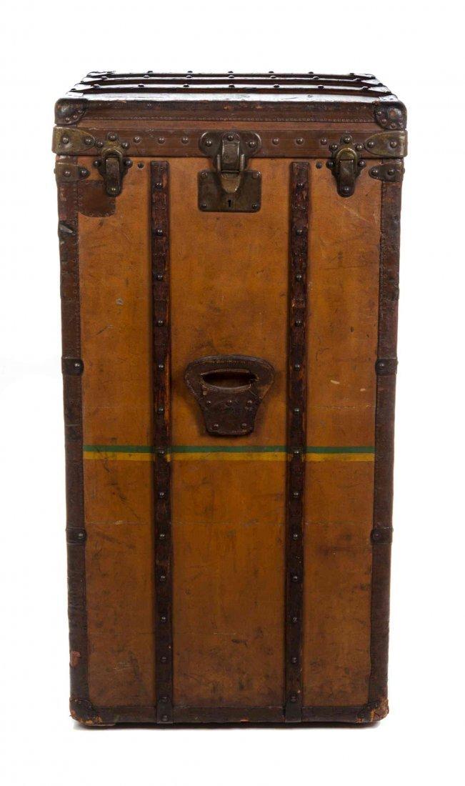 A Rare Louis Vuitton Vuittonite Leather Steamer Trunk,