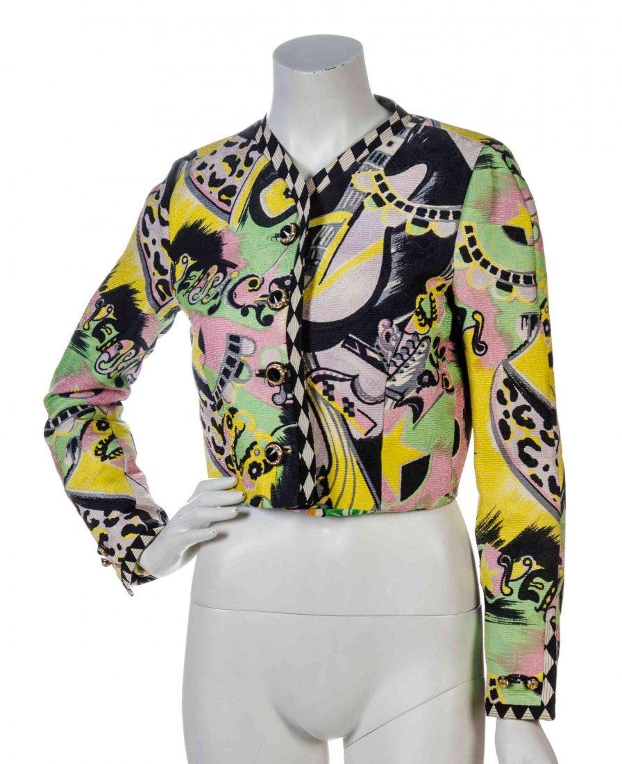 An Atelier Versace Multicolor Print Jacquard Reversible