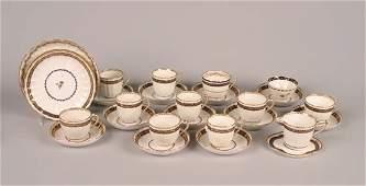 248: A Royal Crown Derby Porcelain Partial Tea Service,